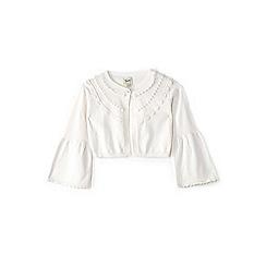 Yumi Girl - Girl white bell cuff cardigan