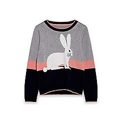 Yumi Girl - Multicoloured rabbit jumper
