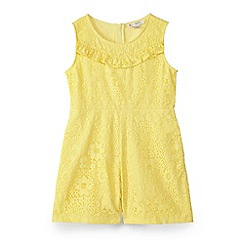 Yumi Girl - Girl yellow bright lace playsuit