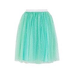 Yumi Girl - Mint embellished sparkle skirt