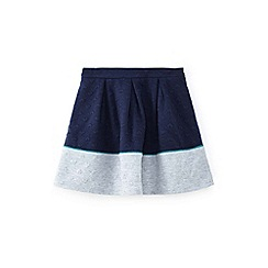 Yumi Girl - Girls' navy 3d heart colour block skirt