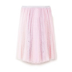 Yumi Girl - Light pink star foil ballerina skirt