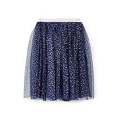 Yumi Girl - Navy star foil ballerina skirt