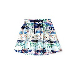 Yumi Girl - Girl multicoloured garden print skater skirt