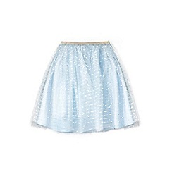 Yumi Girl - Girl pale blue mesh party skirt