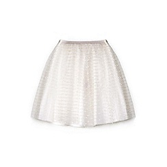 Yumi Girl - Girl white mesh party skirt
