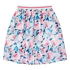 Yumi Girl - Green Floral Print High Low Skirt