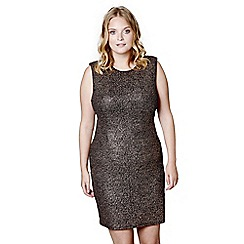 Mela London Curve - Brown metallic 'Lulu' mini bodycon dress