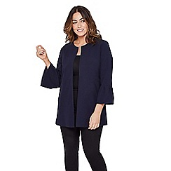 Mela London Curve - Navy flared sleeve plus size jacket