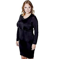 Mela London Curve - Black 'Pollyanna' bodycon dress