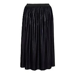 Mela London Curve - Black pleated midi skirt