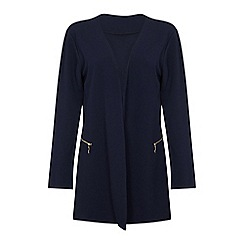 Mela London Curve - Navy lightweight two zip plus size cover up