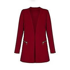 Mela London Curve - Red textured jacket