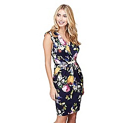 Mela London - Navy floral 'kimana' bodycon dress