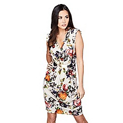 Mela London - Ivory floral 'Maliya' sleeveless bodycon dress