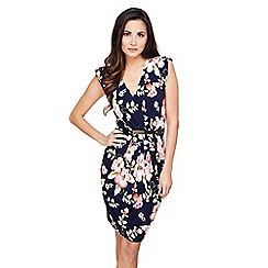 Mela London - Navy floral print 'Johanna' bodycon dress