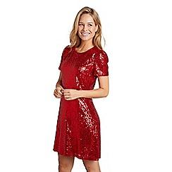 Mela London - Red sequin embellished 'Divine' party dress
