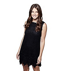 Mela London - Black lace 'Nelly' sleeveless tunic dress