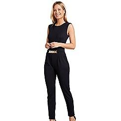 Mela London - Black feature waist belt jumpsuit