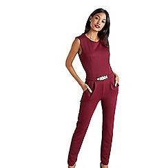 Mela London - Red sleeveless bodycon jumpsuit