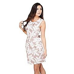 Mela London - Beige leaf print dress 'eugenia' dress