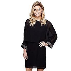 Mela London - Black layered 'Asia' mini tunic dress