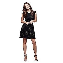 Mela London - Black pattern 'Chiara' mini skater dress