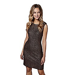 Mela London - Brown shimmering 'Anaiya' mini bodycon dress