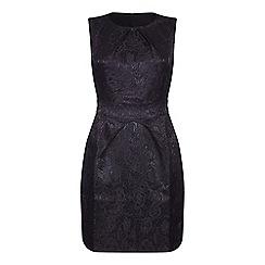 Mela London - Black floral print 'River' mini bodycon dress