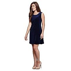 Mela London - Blue velvet 'Emmanuella' party dress