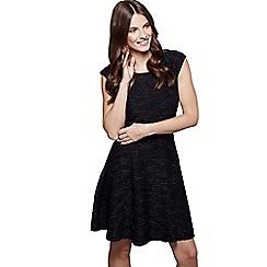 a81a2e89b8 Mela London - Black textured  Coral  mini party skater dress