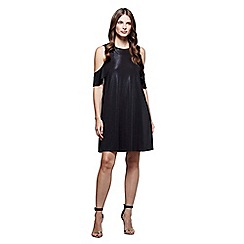 Mela London - Black cold shoulder 'Anniyah' mini tunic dress