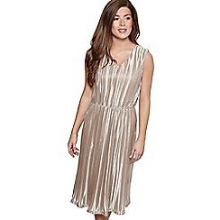 Mela London - Gold metallic stripe 'Dolcie' midi skater dress