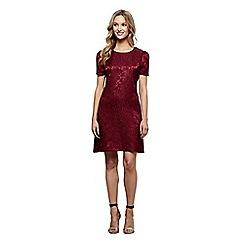 Mela London - Red floral jacquard 'Jiya' shift dress