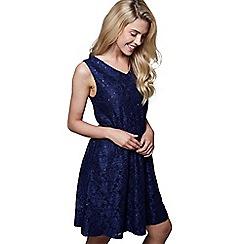 e0c06e2a8e Mela London - Blue floral print  Jayda  mini skater dress