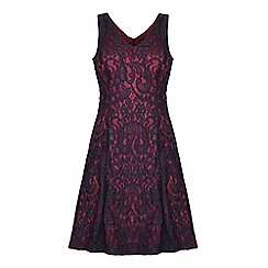 Mela London - Black swirl lace 'Mylee' mini skater dress