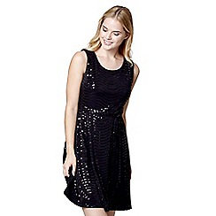 Mela London - Black sequin 'Lillie-rose' mini party dress
