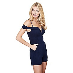 Mela London - Navy structured party playsuit