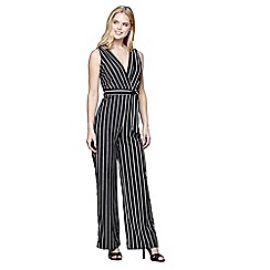 Mela London - Multicoloured wrap front stripe jumpsuit