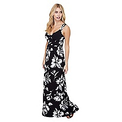 Mela London - Black floral print 'eldora' maxi dress