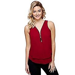 Mela London - Red zip front layer top