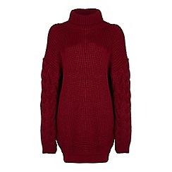 Mela London - Red knit 'Jia' mini jumper dress