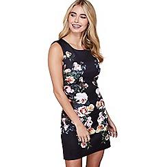 Mela London - Black side floral print 'elfrida' dress