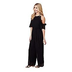 Mela London - Black side frill jumpsuit