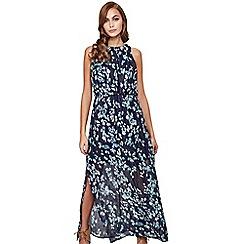 Mela London - Navy floral 'lainey' high neck maxi dress