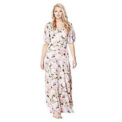 Mela London - Pink floral garden print 'Anabia' maxi dress