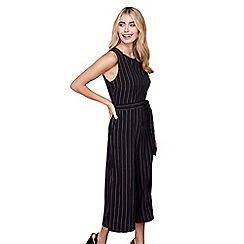 Mela London - Black pinstripe culotte jumpsuit