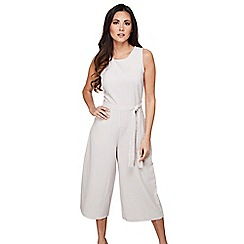 Mela London - Cream striped culotte jumpsuit