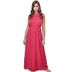 Mela London - Pink high neck 'Valborg' maxi dress