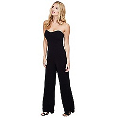 Mela London - Black strapless sweetheart jumpsuit